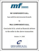 MF Componenti – Microwave Branch