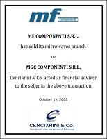 MF Componenti – Microwave Branch